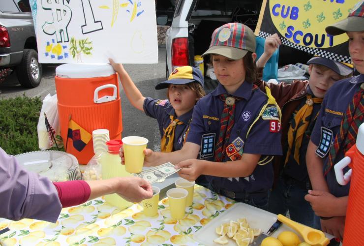 Boy Scout Lemonade Stand McKinleyville